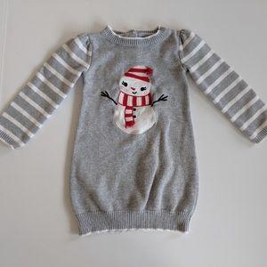Gymboree Snowman Snuggle Sweater Dress